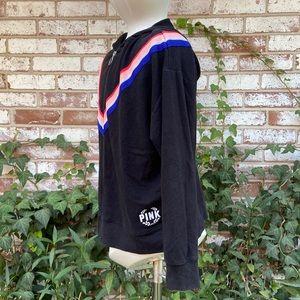 PINK VS Black Hoodie Jacket V Shape Design Size XS
